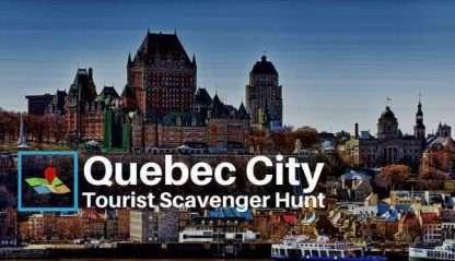 Old Quebec city tourist scavenger hunt