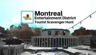 Montreal entertainment district tourist scavenger hunt