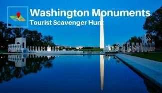 Washington monuments tourist scavenger hunt