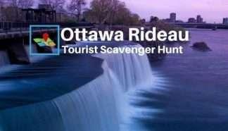 Ottawa Rideau River tourist scavenger hunt