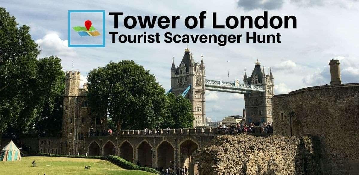 Tower of London tourist scavenger hunt